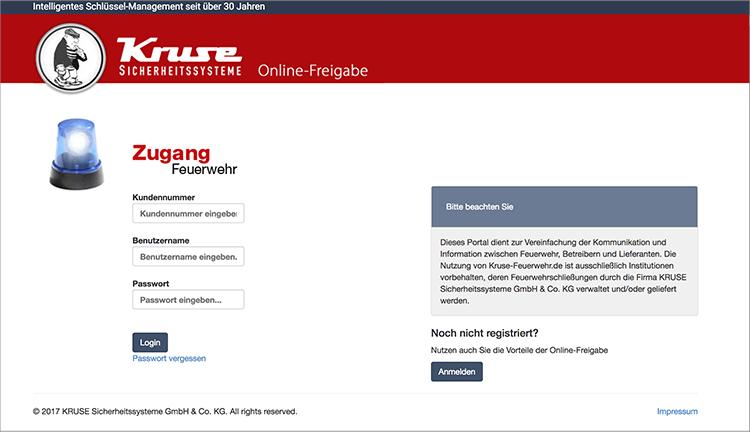 Screenshot Online-Freigabe